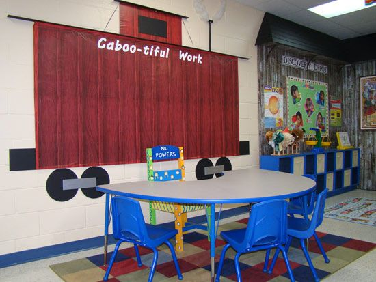 railroad themed classroom | Railroad Line Forums - A Tour of my Railroad-Themed Classroom