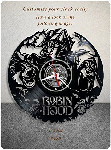 Robin Hood vinyl clock, vinyl wall clock, vinyl record clock walt disney animated classics famous english hero wall art home decor kids gift 189 - (c2), http://www.amazon.com/dp/B01KI7S178/ref=cm_sw_r_pi_awdm_x_58KiybHT90M5A