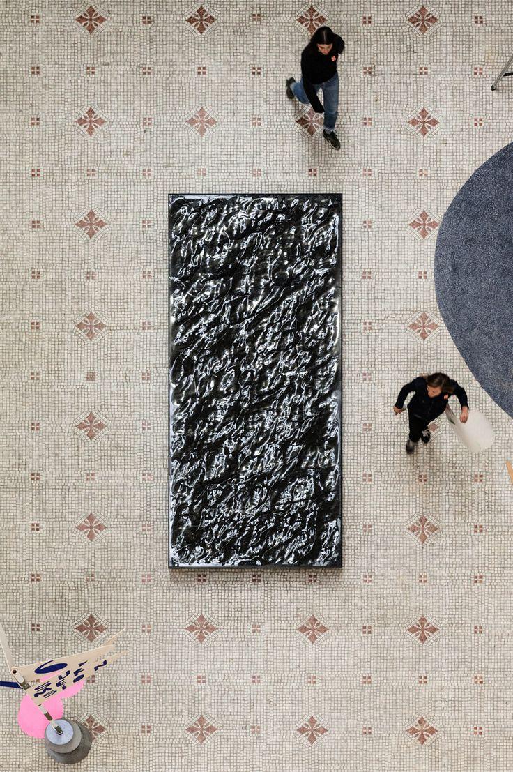 mathieu lehanneur's liquid marble floods paris' musée des arts décoratifs