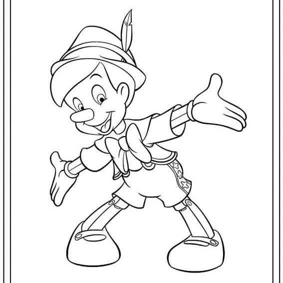 Pre School Pinocchio Coloring Page In 2020 Disney Coloring Pages Cartoon Coloring Pages Coloring Pages