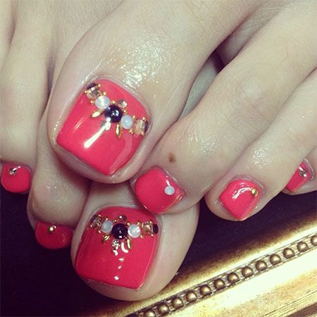 Cool Spring Toe Nail Art Designs Ideas Trends 2014
