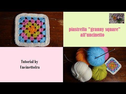 piastrella granny square all'uncinetto tutorial - YouTube