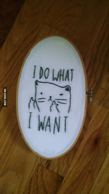 I do what I want - embroidery