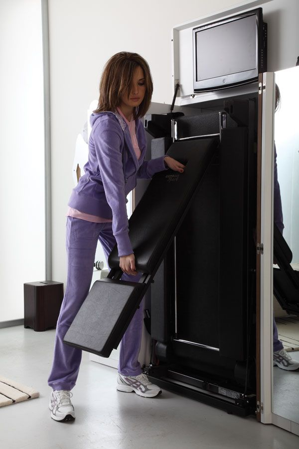 Waaant Treadmill That Folds Into An Armoire Office