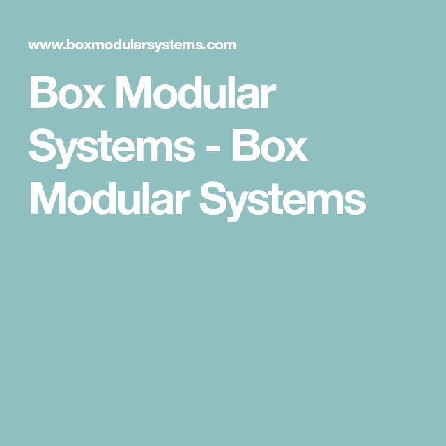 Box Modular Systems - Box Modular Systems