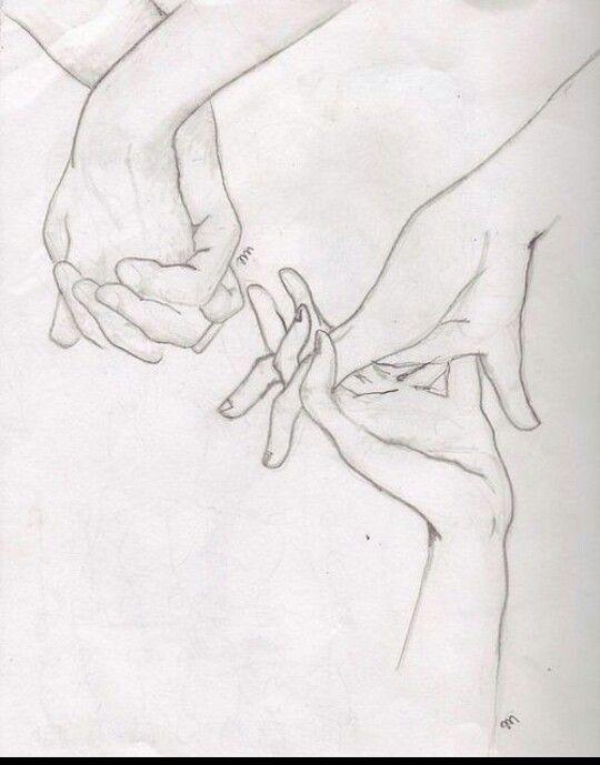Картинки рук влюбленных карандашом