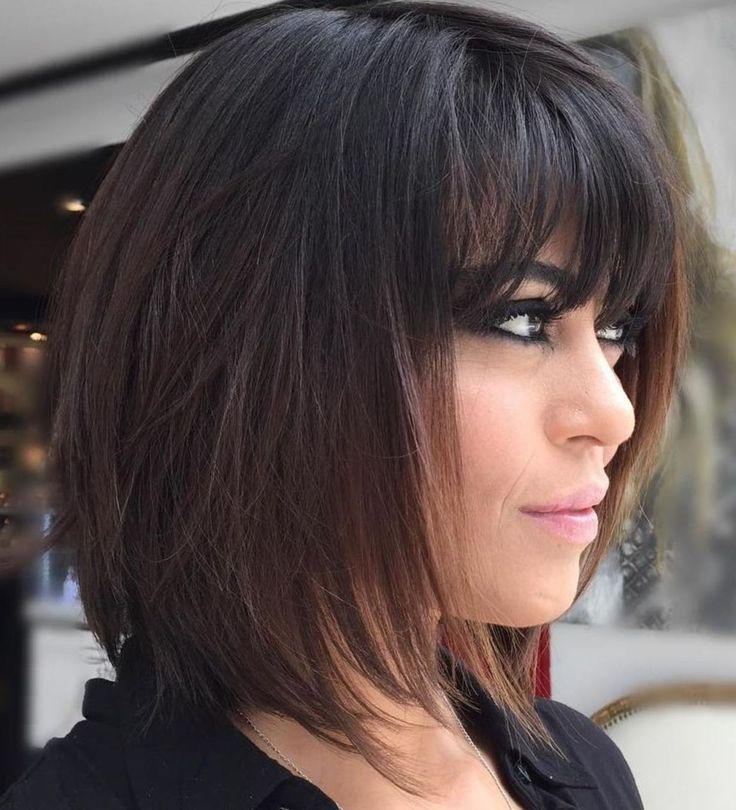 80 sensationelle mittellange Haarschnitte für dickes Haar