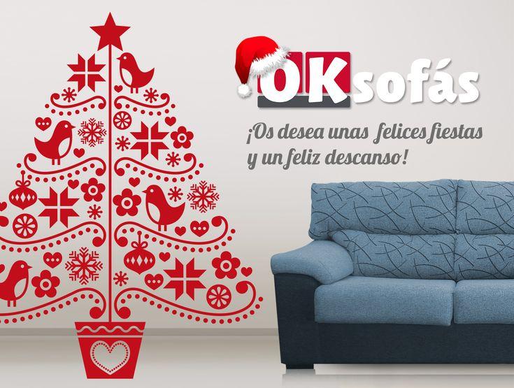 Desde OKSofás os deseamos unas #FelicesFiestas y un buen descanso para  esta Navidad 2017.   #Sofás #decor #Decoración #OKSofás #Felicesfiestas #Navidad2017 #FelizNavidad