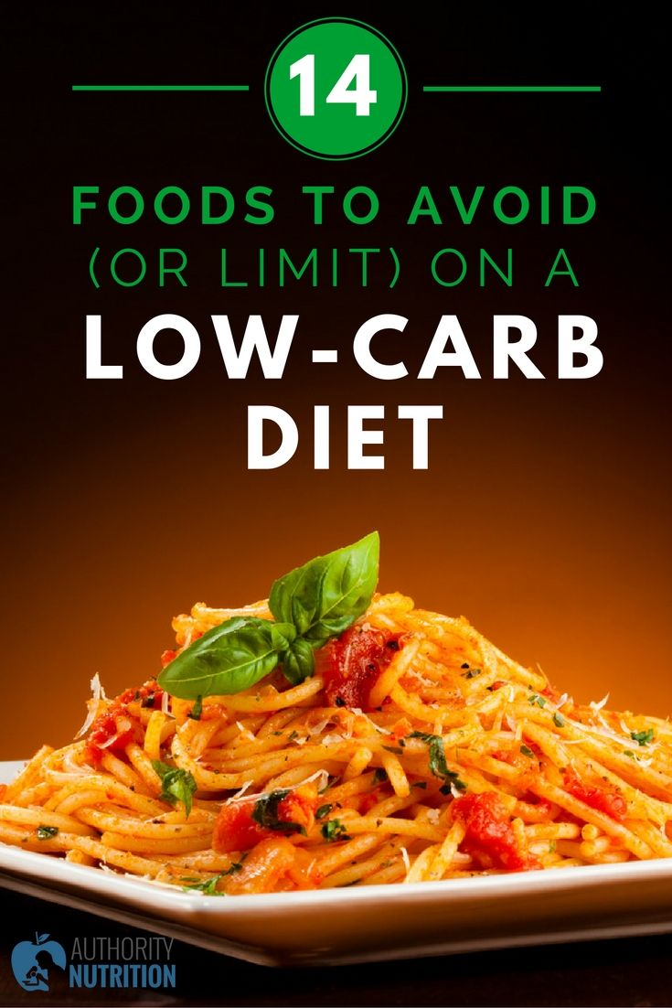 low carb diet 14 foods to avoid