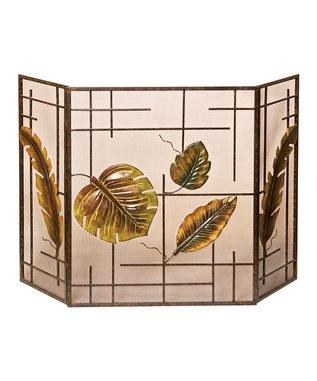 Tropical Fireplace Screen ~$69.99