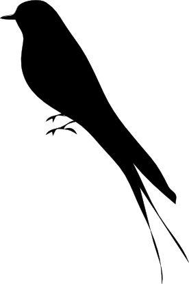 birds silhouette cliparts, free birds clip art, public domain birds picture