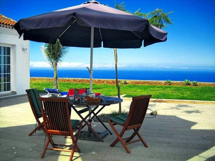 Der notwendige Sonnenschirm auf der Villa de la Luz - Ferienhaus La Palma