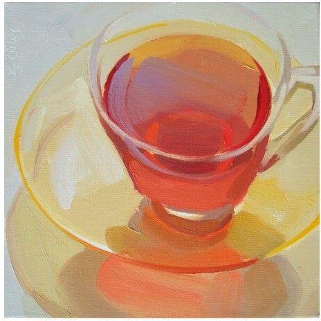 Karen O'Neil - 10x10 - Orange Tea -beautiful works - love her glass