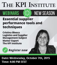 Free live webinar: This webinar presents the main tools and techniques that can be implemented in each step of an Supplier Relationship Management process.