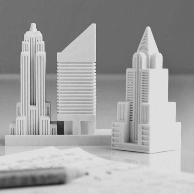Fournitures de bureau : Gommes en forme de gratte-ciels New-Yorkais