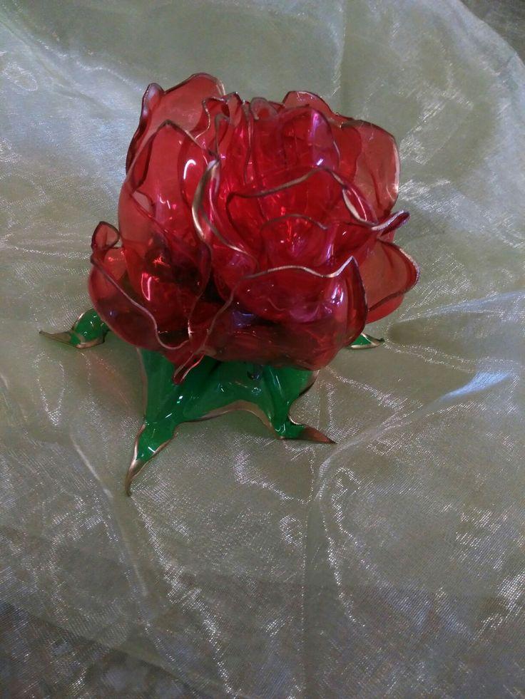 Plastic bloemen van petflessen