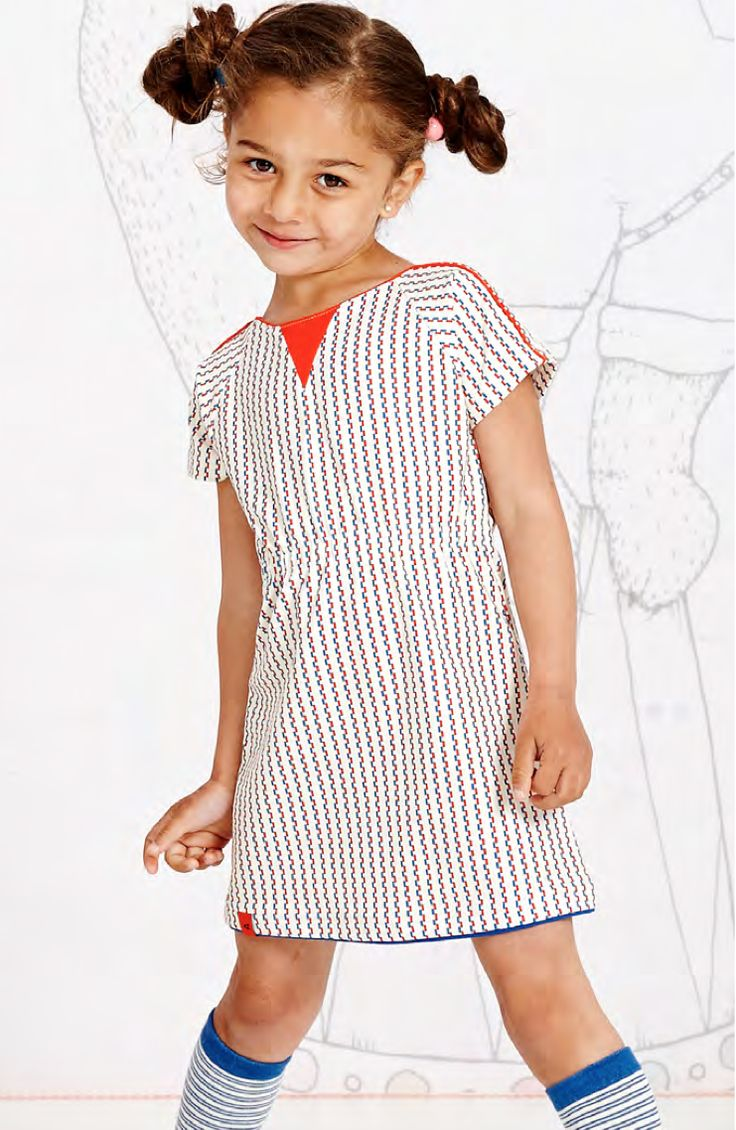 Ella Dress - Blue/Red van AlbaBaby