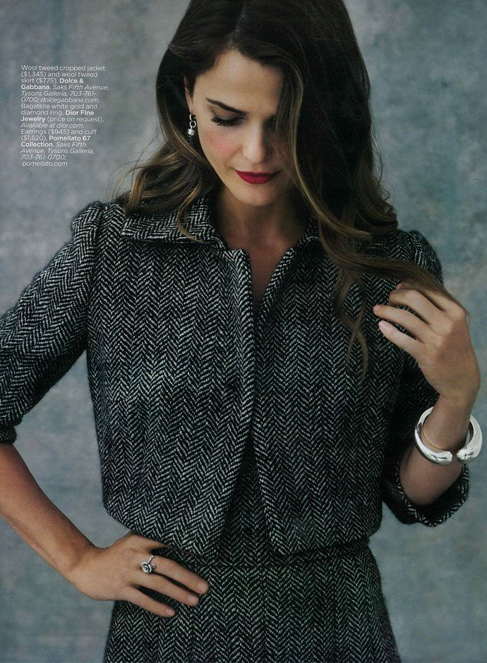 Keri Russel in Dolce&Gabbana Fall Winter 2014, Capitol File USA Holiday 2013 -