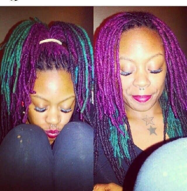 174 Best Locs Of Color Images On Pinterest Natural Hairstyles