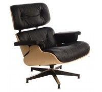 Kreslo Vip inšpirované Lounge chair čierna koža
