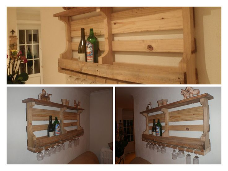 wijnrek /wijngazen-houder uit 1-malige palet