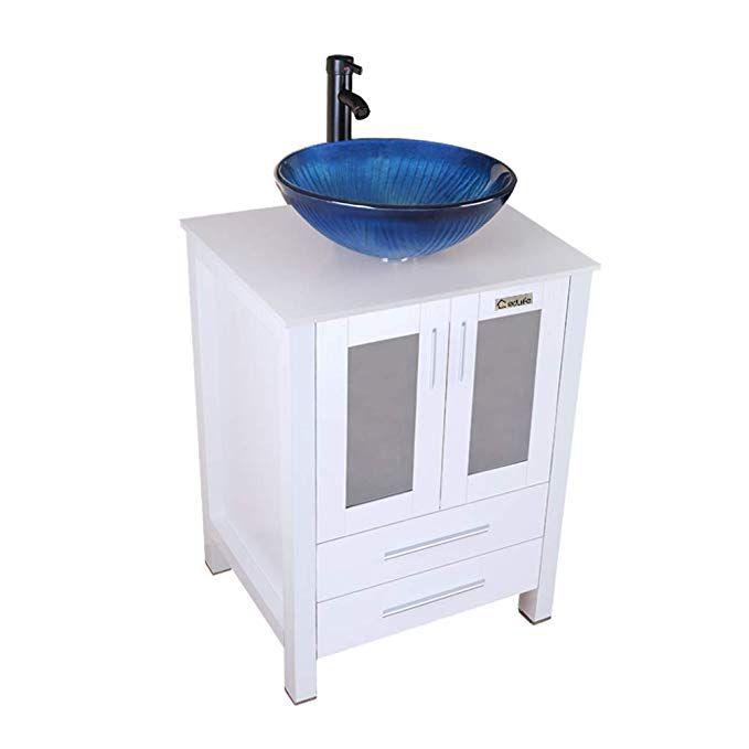 Eclife 24 Bathroom Vanity And Sink Combo White Small Vanity Ocean