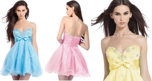 Juniors Graduation Dresses 2013 8th Grade in Blue Pink and Yellow #homecoming #dress #prom