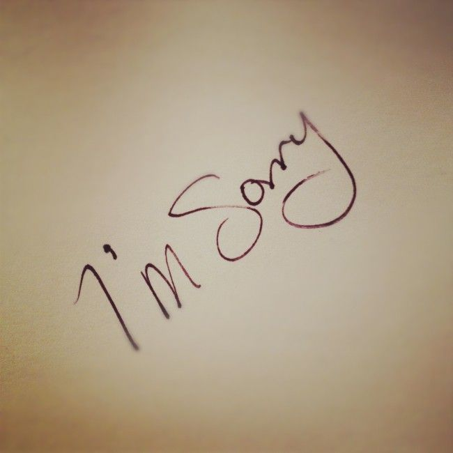 """Why Is It So Hard To Say I'm Sorry, Whichever way you typically respond to your spouse in your marital relationship, specifically with """"I'm sorry,"""" ..."""