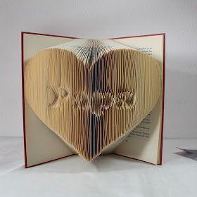 Book Origami, Buch-Origami, Origami, Bookfolding, Bücher falten, Muttertag, Vatertag, Book art, Geschenkidee, Buchkunst, Buchskulptur, Buch als Dekoobjekt