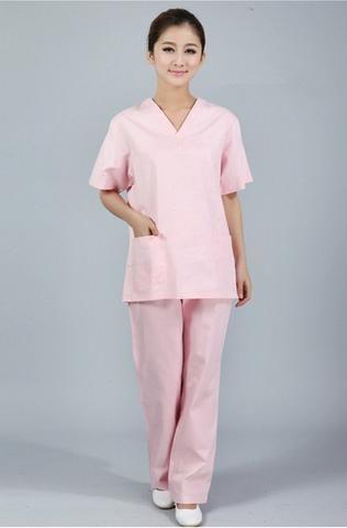 ccbf885fc07 New premium Women's V neck Nurse Uniform SET Hospital Medical Scrub Set  Clothes Short Sleeve Surgical Scrubs - Blindly Shop
