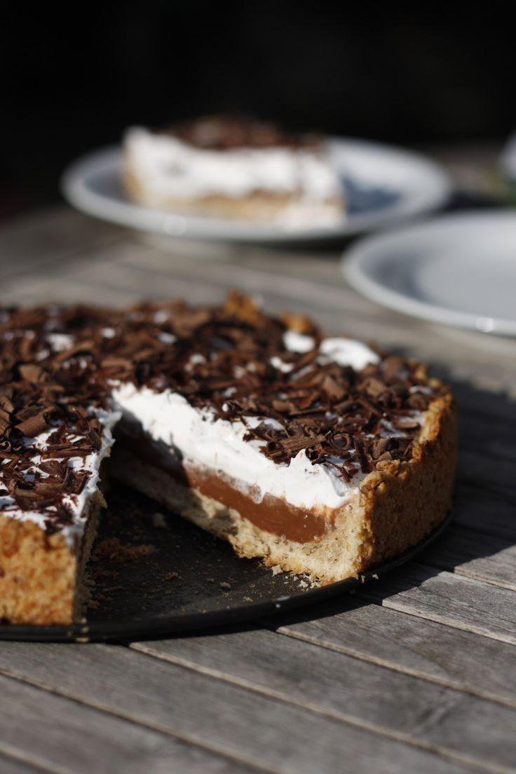 Hazelnoot-chocoladetaart