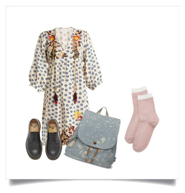"""""""field child"""" by guppika ❤ liked on Polyvore featuring Liana Clothing, Velvet by Graham & Spencer, TOMS and Dr. Martens"""