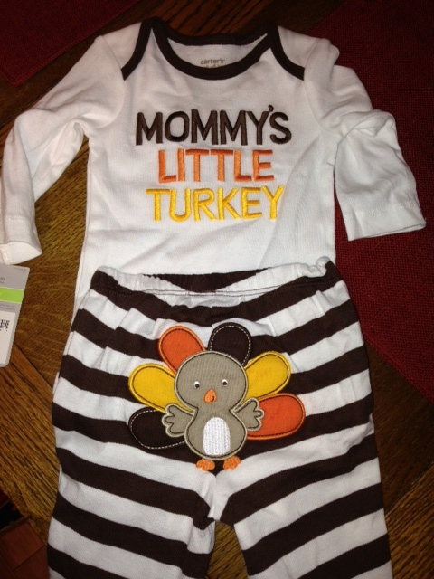 Infant 'first thanksgiving' turkey outfit