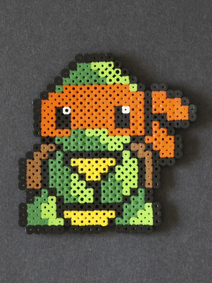 Michelangelo Ninja Turtle Perler Bead Sprite Perler Bead