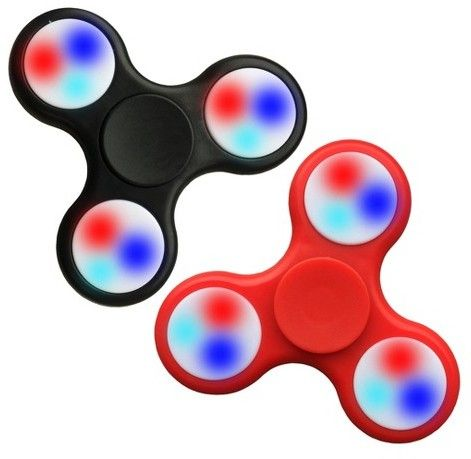 Excell Fidget Spinner Wild LED 2 Pack - Colors Will Vary