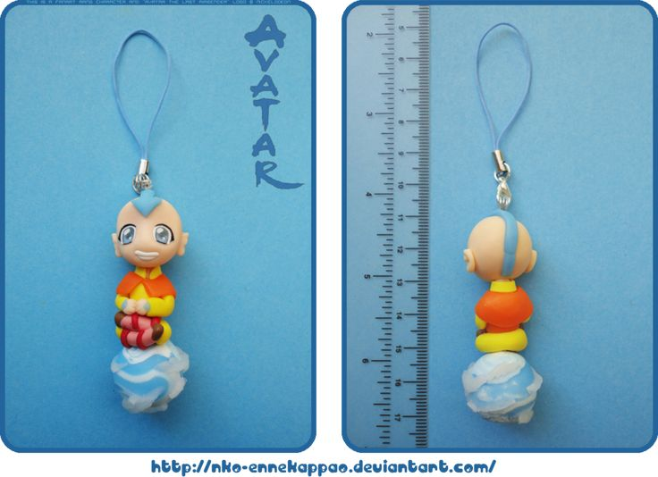 Avatar Aang phone charm by *Nko-ennekappao on deviantART: Artisan Crafts, Avatar Aang, Polymer Clay, Clay Avatar, Aang Phone