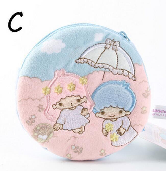 Little Twin Stars Umbrella Plush Handbag Coin Bag Money Bags Zip Ornament