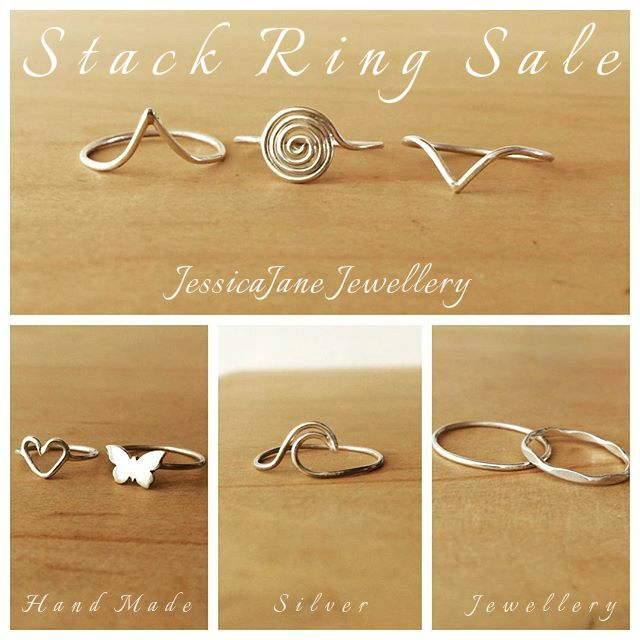 End of the Month Sale - For this week only, buy any two Sterling Silver Stack Rings for R200.00 and get a Third one absolutely Free!  To place an order, please email me at jjane.vandijk@gmail.com Sale ends 26 February 2016
