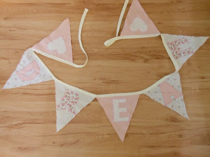 """Bunting may have a word to inspire such as """"dream""""."""