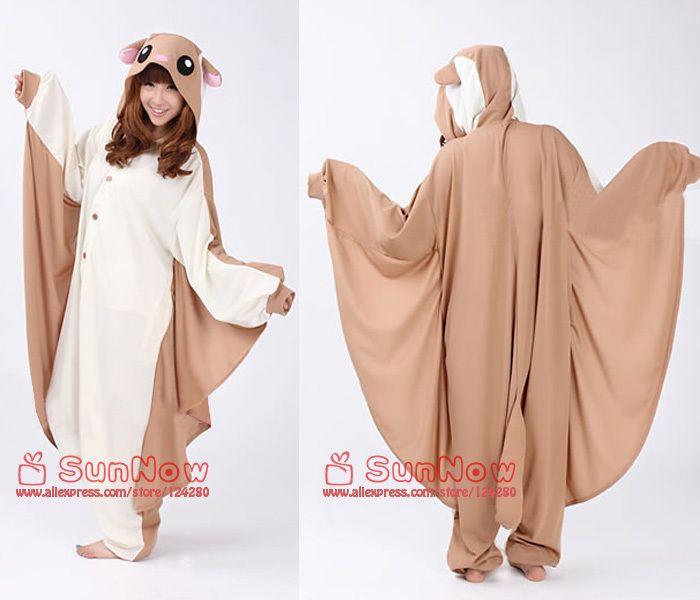 Japon kigurumi molletoné brandisse Écureuil cosplay costumes animaux, onesies filles. pyjama. pyjamas pour femmes cosplay adulte grenouillère