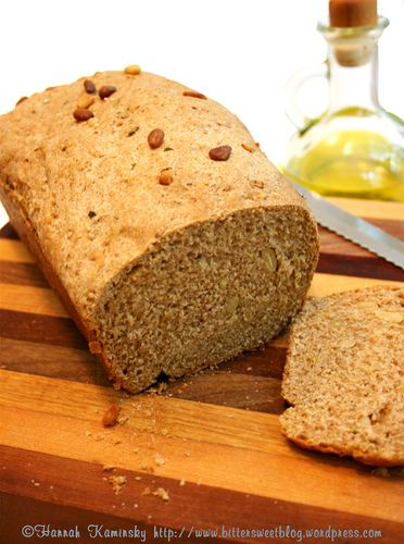 mediterranean sprouted quinoa bread #vegan recipe