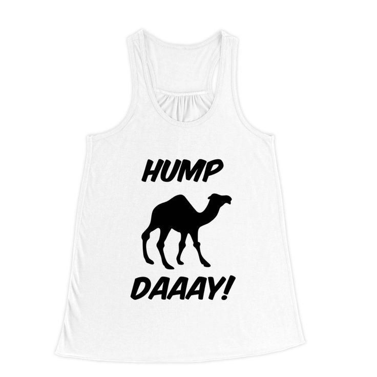 Hump Day Camel Flowy Racerback Tank Top