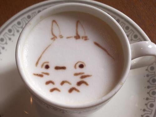 Totoro Coffee Ghibli Food Kawaii Drink Kawaii Food Blog