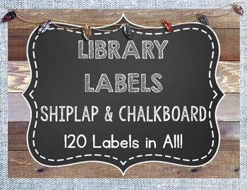 This Shiplap and Chalkboard Library Labels set includes 120 labels for the K-6 grade classrooms! There is a great variety, including genres, series, and popular authors. This package is not editable. Something missing? Please email me at ambersocaciu@gmail.com and I'll send you the template.Thanks for viewing!Amber Socaciu