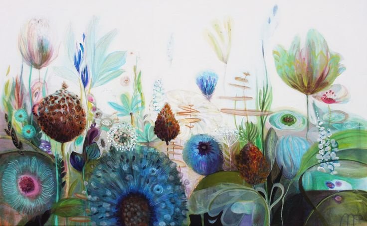 'into the grass'acryl op doek 100x160cm 3d. www.moniekpeek.nl