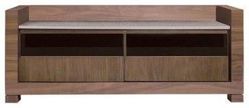 Tao Small Tv Bench, Walnut - contemporary - media storage - Inmod
