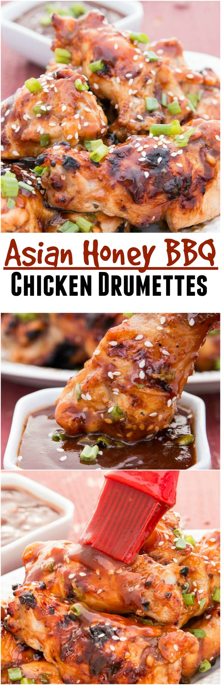 Asian Honey BBQ Chicken Drumettes are a quick and simple appetizers, side, or afternoon snack.