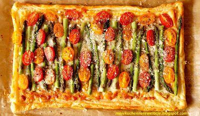 Moje                                                                       Kuchenne Rewelacje  : Tarta ze szparagami na cieście francuskim
