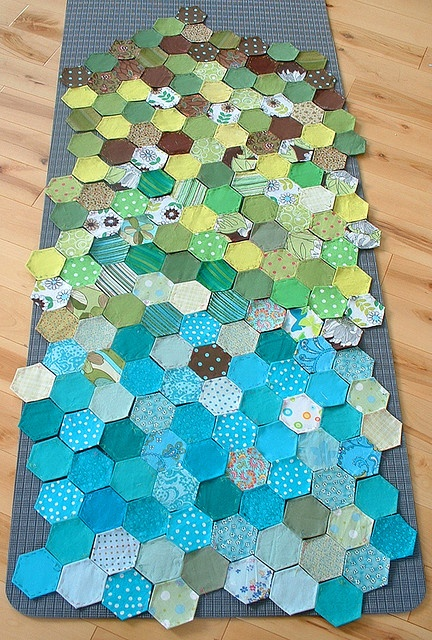 hexagons, beautiful but this looks like so much work! Very impressive!