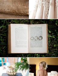 Literature Themed Wedding on a Budget  Read more - http://www.stylemepretty.com/2010/12/14/literature-themed-wedding-on-a-budget/